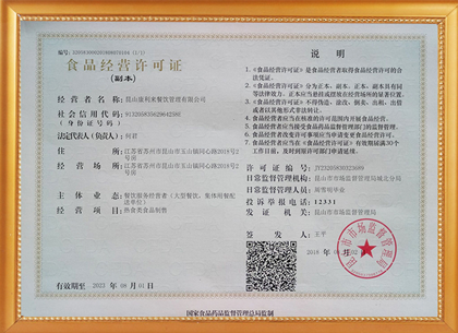Food business license (copy)